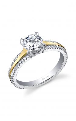 Sylvie Sidestone Engagement ring SY455 TT product image