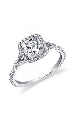 Sylvie Sidestone Engagement ring SY595 product image