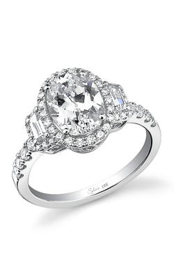 Sylvie Halo Engagement ring SY596 product image