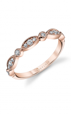 Sylvie Wedding Bands B0011 ROSE product image