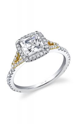 Sylvie Halo Engagement ring, SY595 TT product image