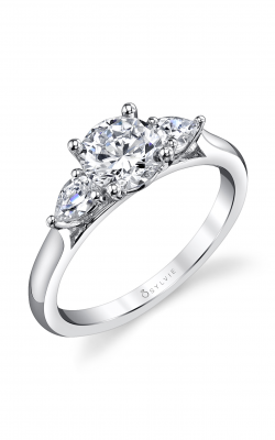 Sylvie Three Stone Engagement ring, S3003S-29A8W10R product image