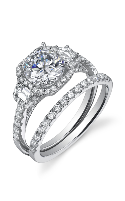 Sylvie Halo Engagement ring, SY172S product image