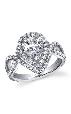 Sylvie Halo Engagement ring SY304 PS product image