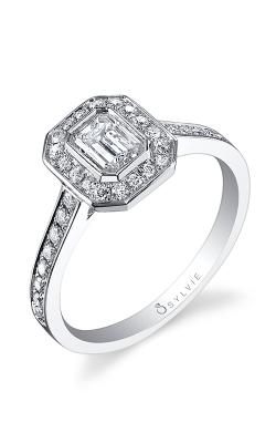 Sylvie Halo Engagement ring, SY865-EM product image