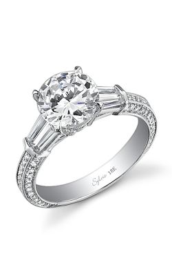 Sylvie Three Stone Engagement ring, SY331S-0100/A8W product image