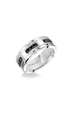 Triton  8mm Comfort Fit WTC/Sil Diamond Band - A  Wedding Band  22-5252SHC-G product image