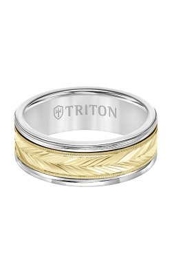 Triton Carved Wedding Band 11-2416WCY8-G