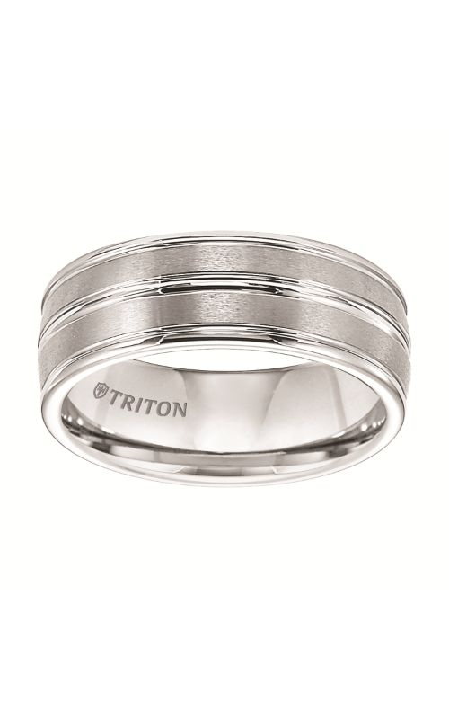 Triton  8mm Comfort Fit WTC Band/Horiz. Grvs  Wedding Band  11-2890HC-G product image