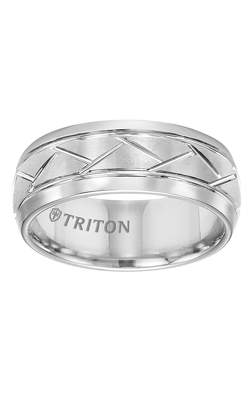 Triton  8mm Comfort FitF WTC Diag Cuts  Wedding Band  11-2892HC-G product image