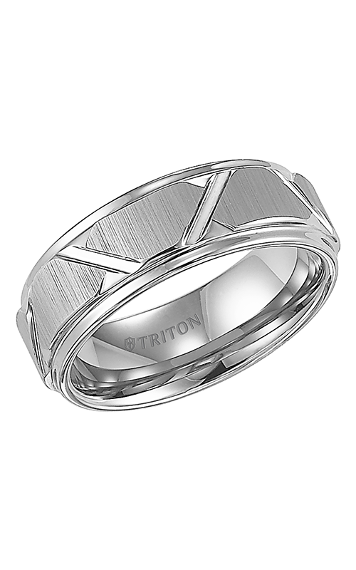 Triton  8mm Comfort Fit WTC/BRT Cuts Band - A  Wedding Band  11-4126HC-G product image