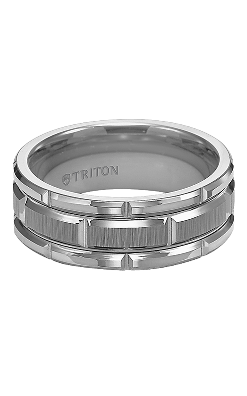 Triton  8mm Comfort Fit TC/BRT Cuts Band - A  Wedding Band  11-4127C-G product image