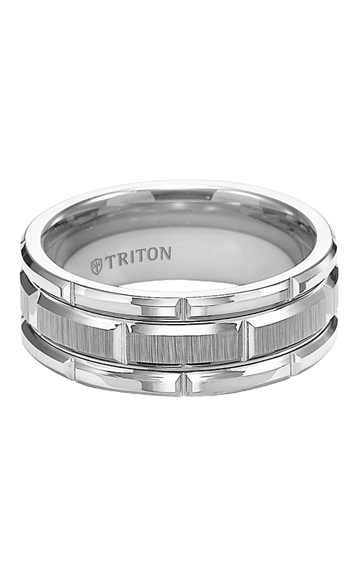 Triton  8mm Comfort Fit WTC/BRT Cuts Band - A  Wedding Band  11-4127HC-G product image