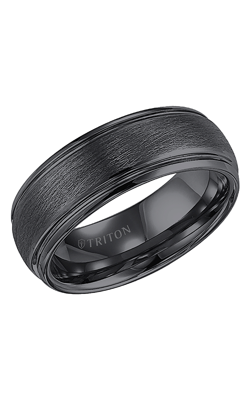 Triton  8mm Comfort Fit BTC/WIRE Brush Band - A  Wedding Band  11-4129BC-G product image