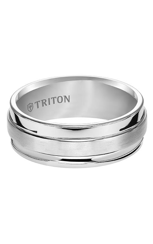 Triton  8mm Comfort Fit WTC Wides Step Band - A  Wedding Band  11-4747HC-G product image