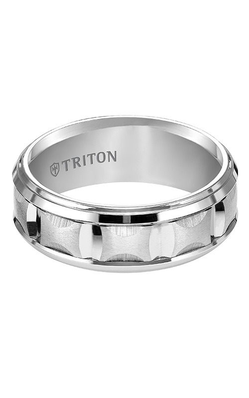 Triton  8mm Comfort Fit WTC Bevel Step Band - A  Wedding Band  11-4812HC-G product image