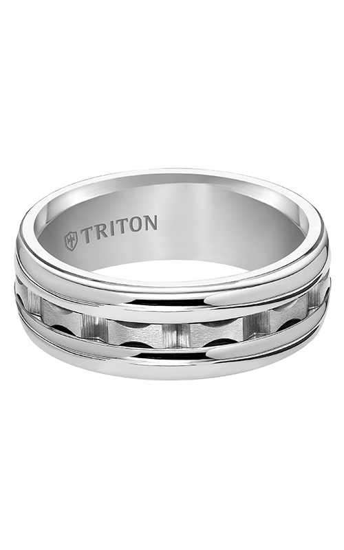 Triton  8mm Comfort Fit WTC Domed Band - A  Wedding Band  11-4814HC-G product image