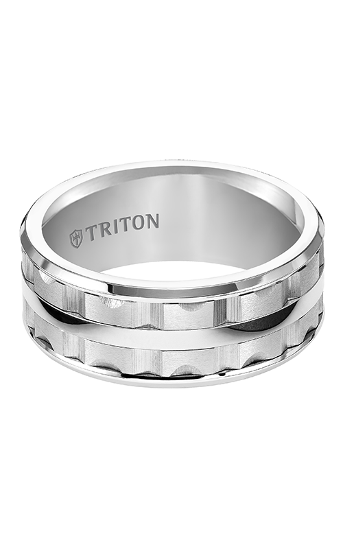 Triton  9mm  Comfort Fit WTC Bevel Edge Band - A  Wedding Band  11-4815HC-G product image