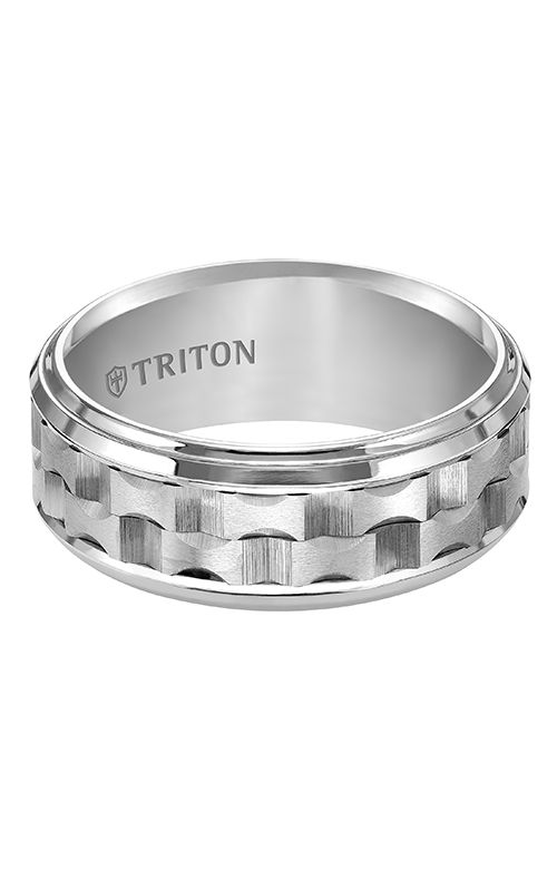 Triton  9mm Comfort Fit WTC Bevel Step Band - A  Wedding Band  11-4818HC-G product image