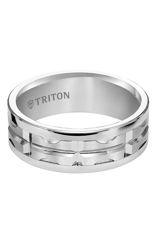 Triton  8mm Comfort Fit WTC Bright Cut Band - A  Wedding Band  11-4820HC-G product image
