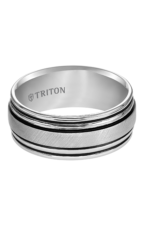 Triton  9mm Comfort Fit WTC Satin/B.LN Band - A  Wedding Band  11-4825HC-G product image