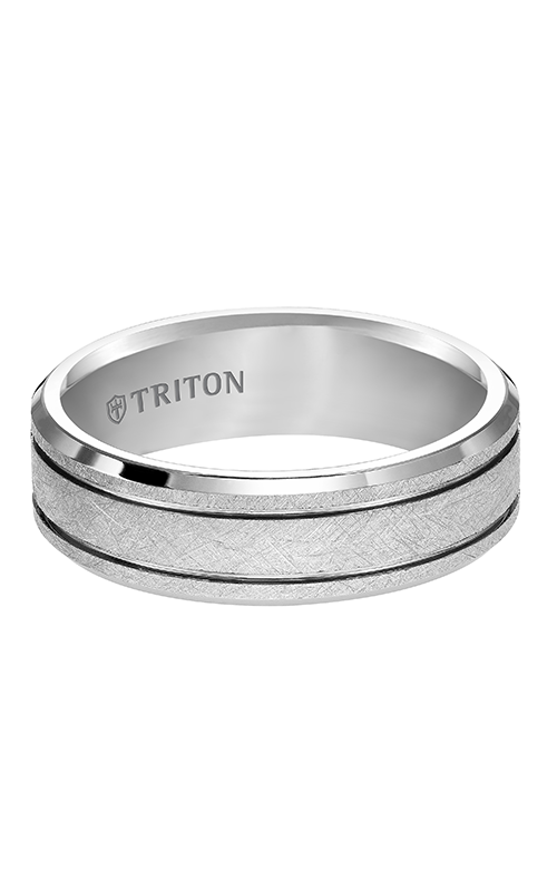 Triton  7mm Comfort Fit WTC Crystalline Band - A  Wedding Band  11-4826HC-G product image