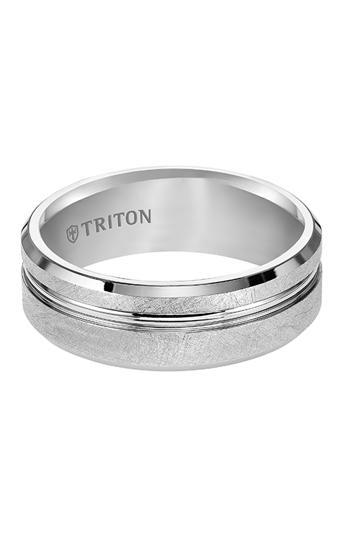 Triton  8mm Comfort Fit WTC Crystalline Band - A  Wedding Band  11-4827HC-G product image