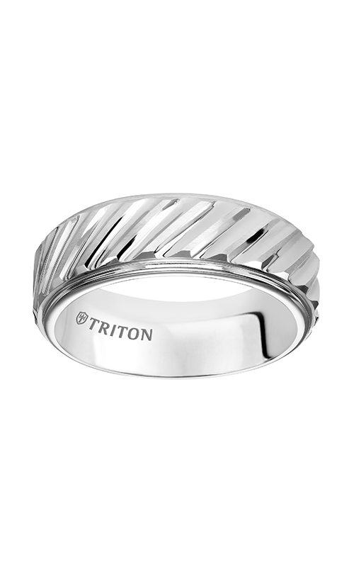 Triton  8mm Comfort Fit WTC Diag.Cut Band - A  Wedding Band  11-4832HC-G product image