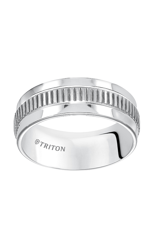 Triton  8mm Comfort Fit WTC Step Edge Band - A  Wedding Band  11-5238HC-G product image