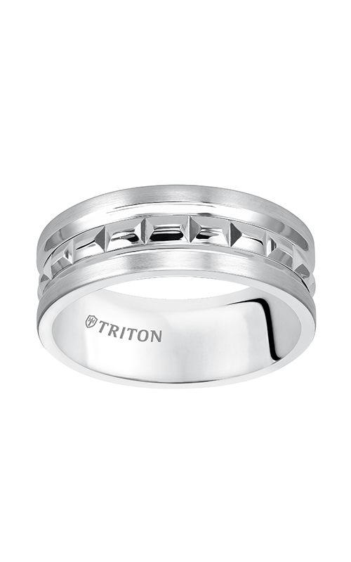 Triton  8mm Comfort Fit WTC Bright CT Band - A  Wedding Band  11-5242HC-G product image