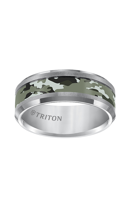 Triton  8mm Comfort Fit TC Camo Inlay Band - A  Wedding Band  11-5279C-G product image
