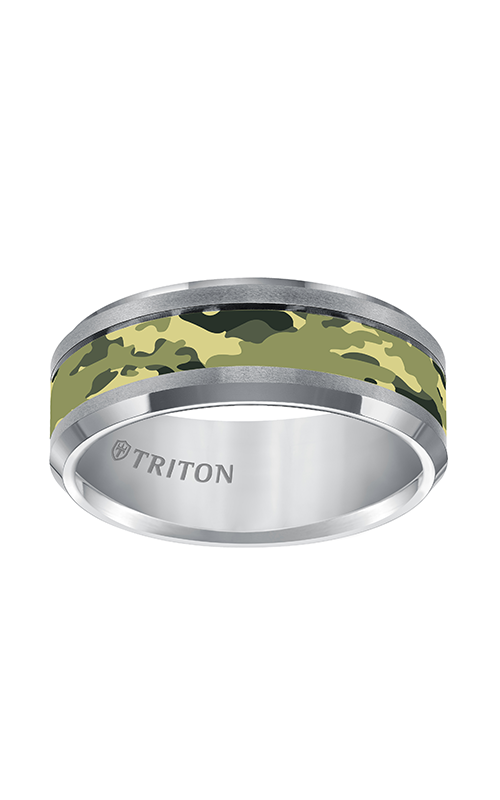 Triton  8mm Comfort Fit TC Camo Inlay Band - A  Wedding Band  11-5280C-G product image