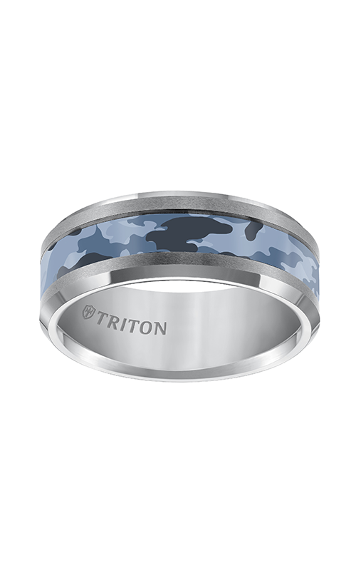 Triton  8mm Comfort Fit TC Camo Inlay Band - A  Wedding Band  11-5281C-G product image