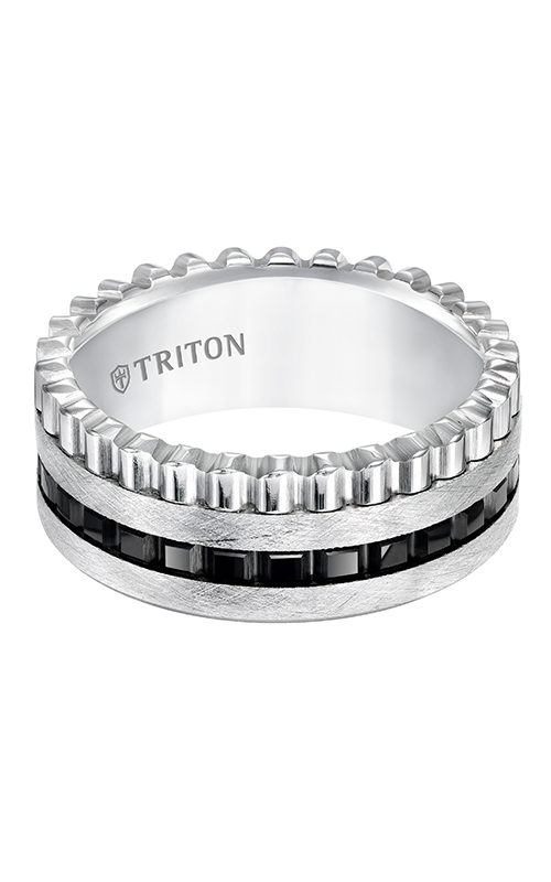 Triton  9mm Comfort Fit Blk/Wht TC Tex.Band - A  Wedding Band  11-5422MC-G product image