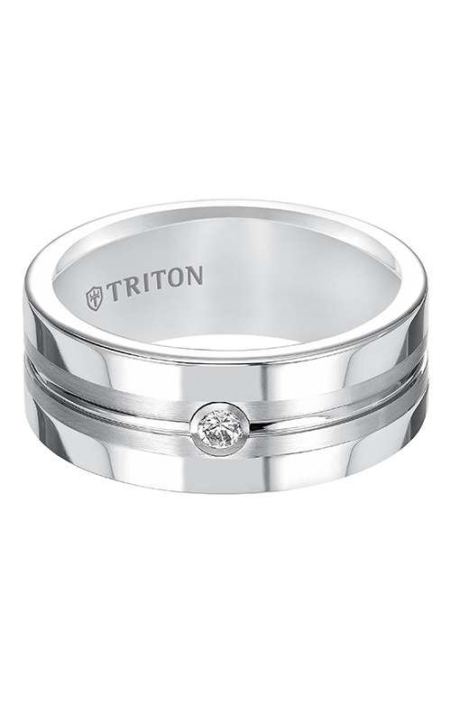 Triton  8mm Comfort Fit BTC Diamond Goroove Band - A  Wedding Band  22-5250HC-G product image