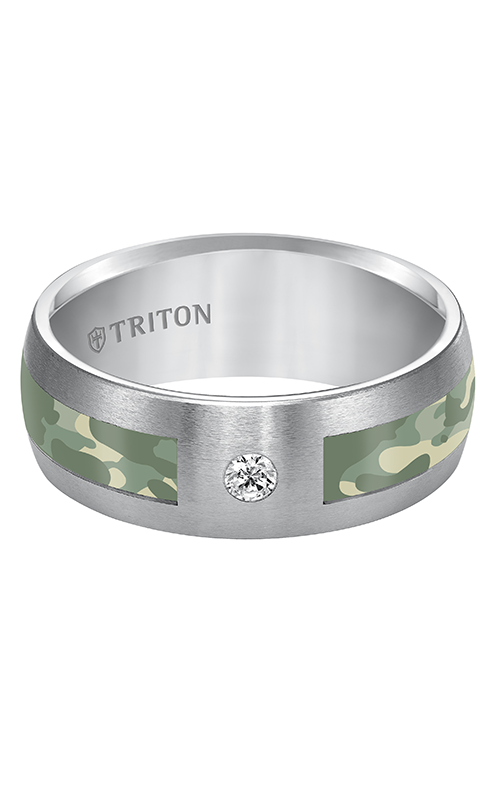 Triton  8mm Comfort Fit TC Camo Inlay Band - A  Wedding Band  22-5282C-G product image