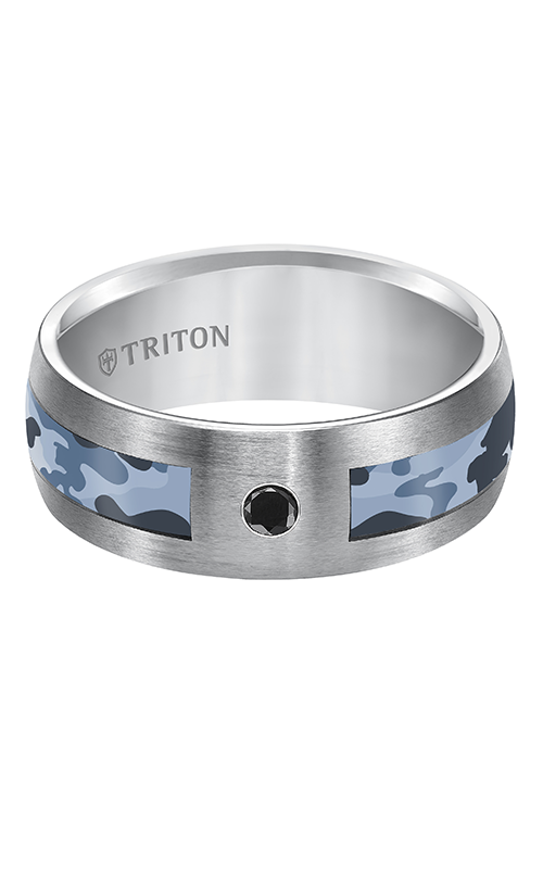 Triton  8mm Comfort Fit TC Camo Inlay Band - A  Wedding Band  22-5283C-G product image