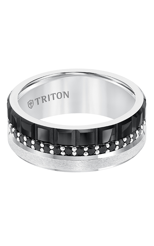 Triton  8mm Blk/Wht TC BK Saph Band - A  Wedding Band  22-5457C100-G product image