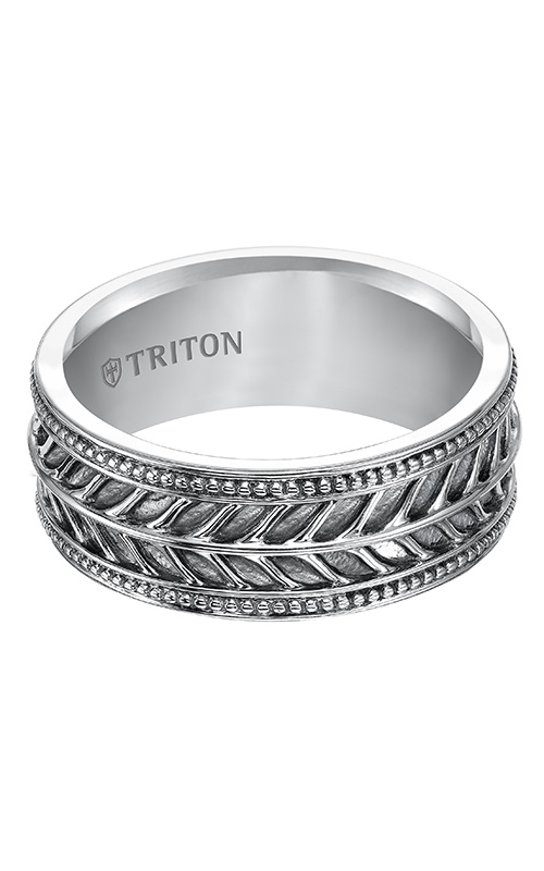 Triton Sterling Silver Wedding Band 11-4933SV-G product image
