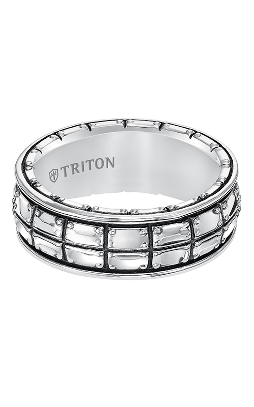 Triton  Woven Silver Black Oxidation Band -A  Wedding Band  11-5274SV-G product image