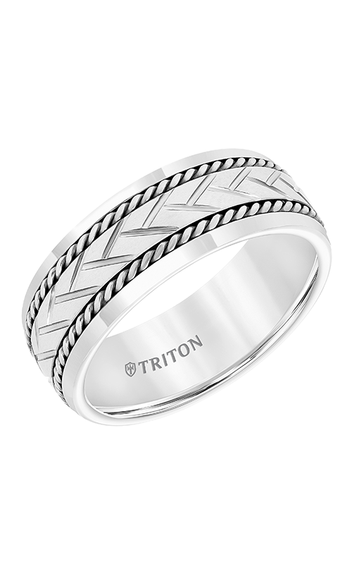 Triton Engraved Wedding Band 11-5942SHC8-G product image