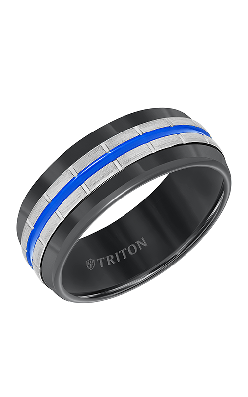 Triton Engraved Wedding Band 11-5944BCB8-G product image