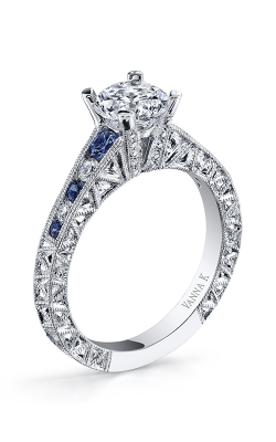 Vanna K Hand Engraved Engagement ring 18RGL001126SDCZ product image
