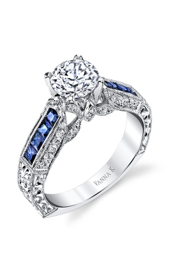 Vanna K Hand Engraved Engagement ring 18M002681SEDCZ product image