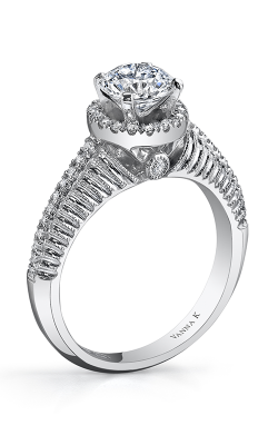 Vanna K Hand Engraved Engagement ring 18RM55103DCZ product image