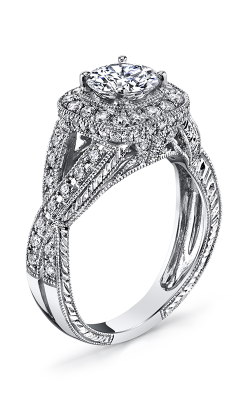 Vanna K Hand Engraved Engagement ring 18R8681DCZ product image