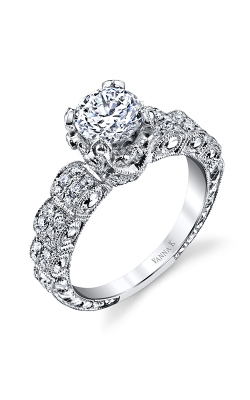 Vanna K Hand Engraved Engagement ring 18RGL00274DCZ product image