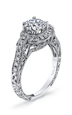 Vanna K Hand Engraved Engagement ring 18RGL416DCZ product image