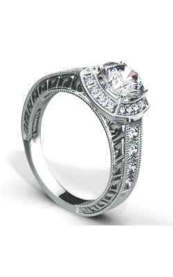 Vanna K Hand Engraved Engagement ring 18RGL667DCZ product image