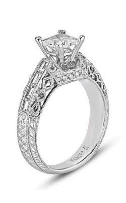 Vanna K Hand Engraved Engagement ring 18RO3089WDCZ product image